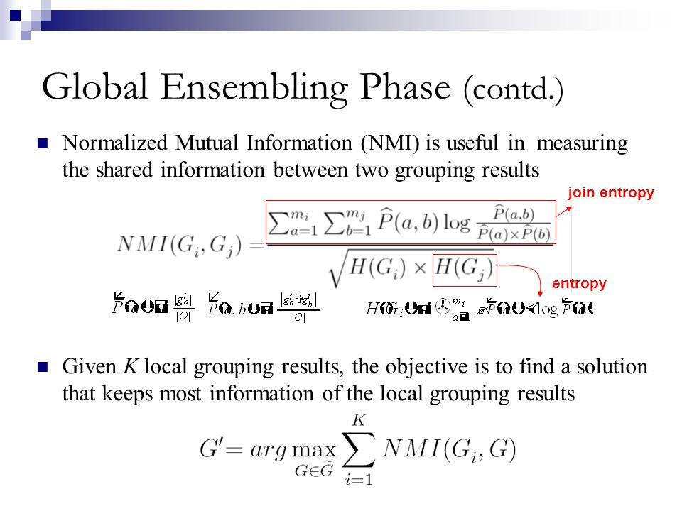 Global Ensembling Phase (contd.)