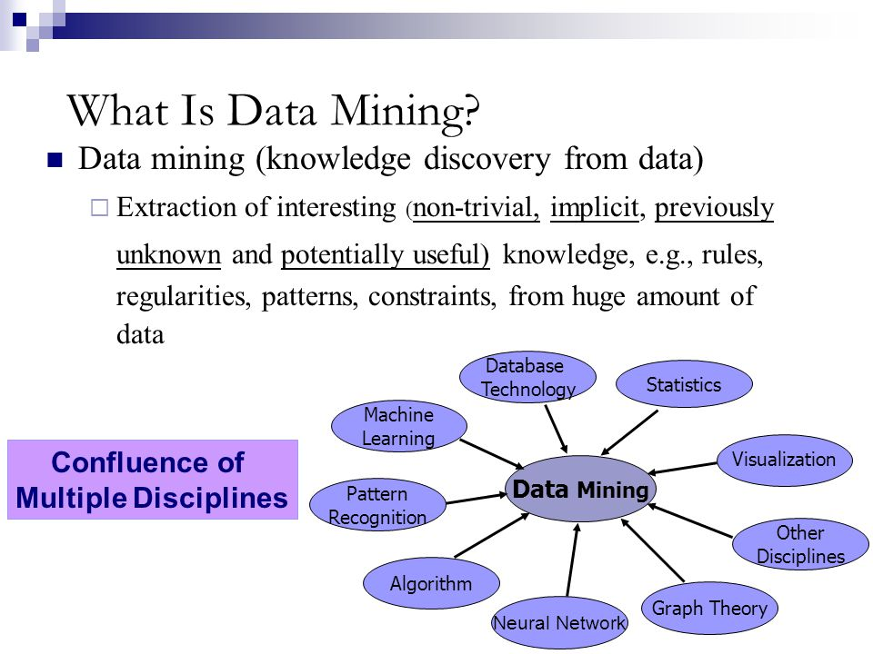 What Is Data Mining Data mining (knowledge discovery from data)