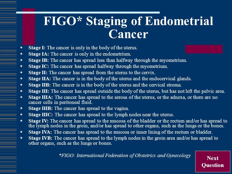 FIGO* Staging of Endometrial Cancer