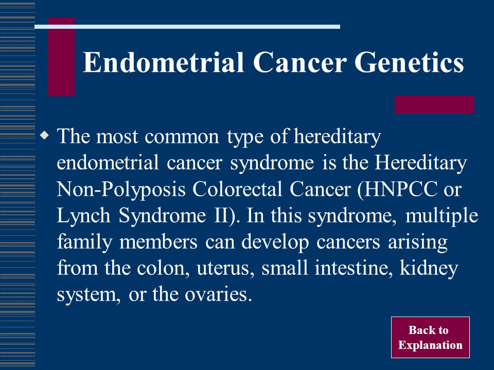 Endometrial Cancer Genetics