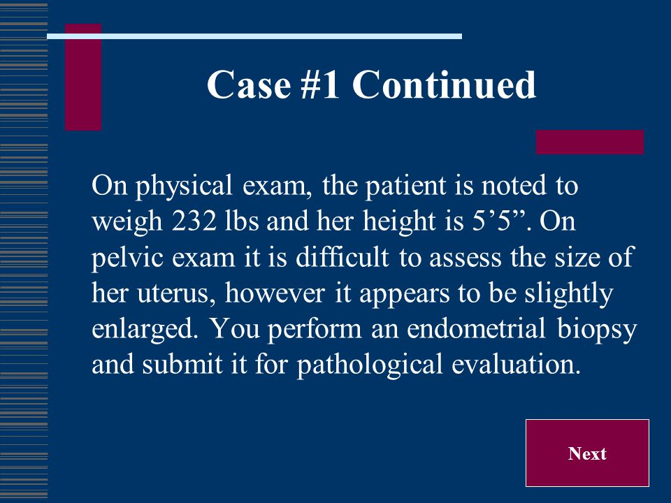 Case #1 Continued