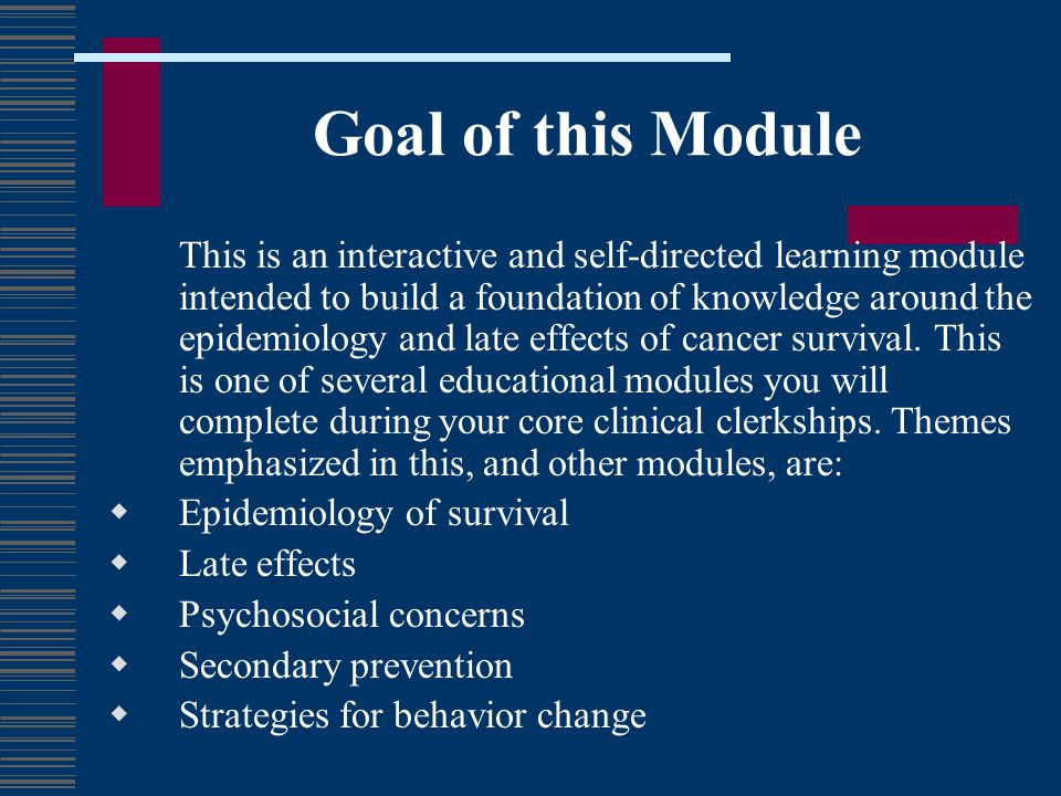 Goal of this Module