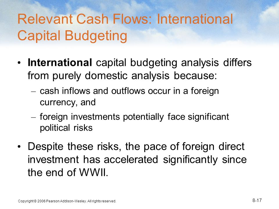 Relevant Cash Flows: International Capital Budgeting