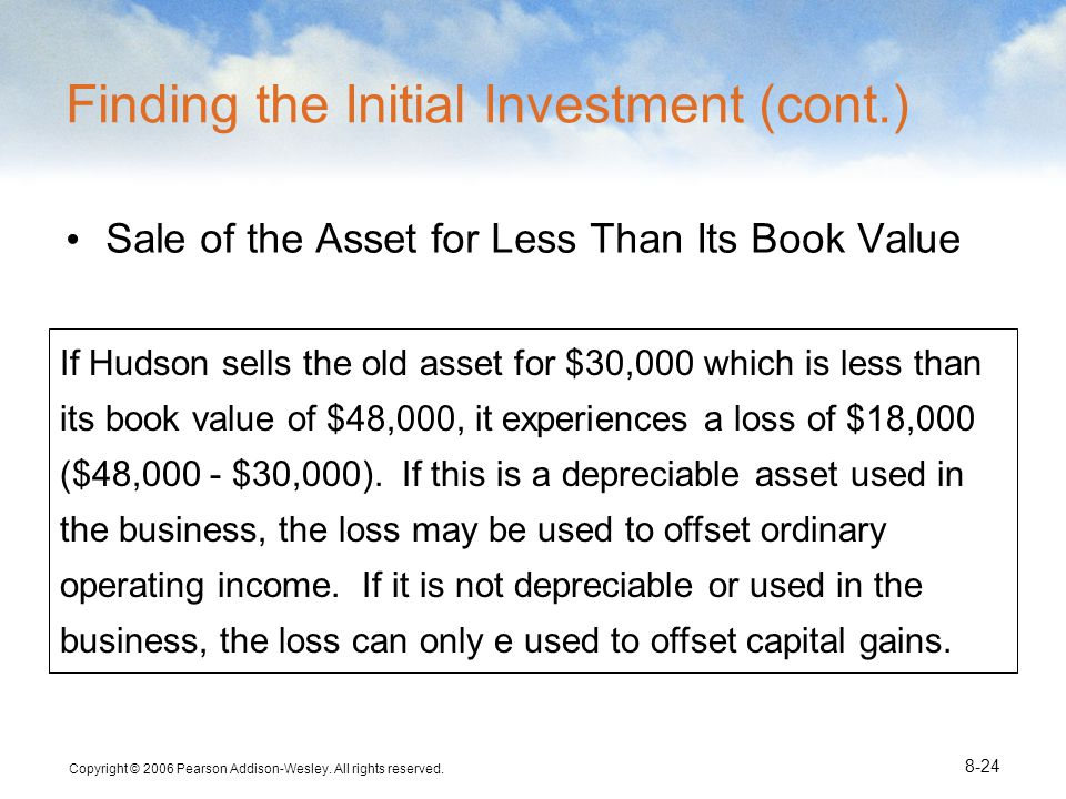 Finding the Initial Investment (cont.)