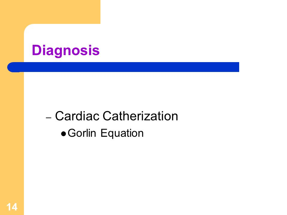 Diagnosis Cardiac Catherization Gorlin Equation