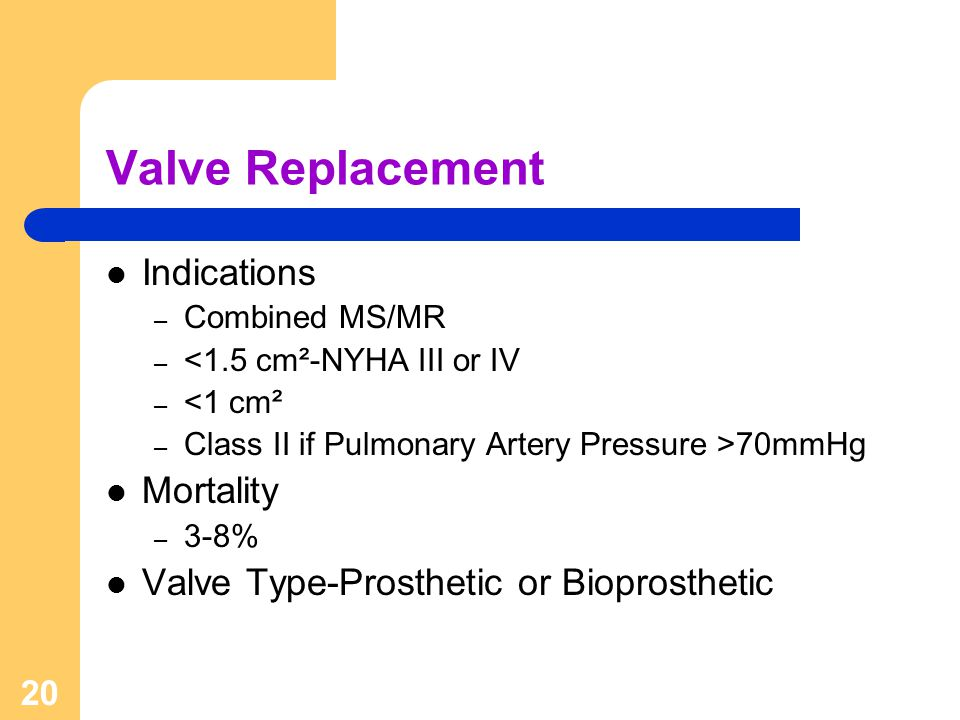 Valve Replacement Indications Mortality