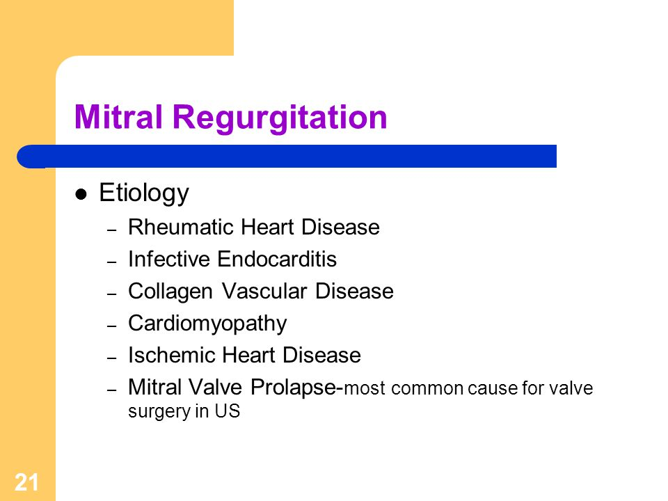 Mitral Regurgitation Etiology Rheumatic Heart Disease