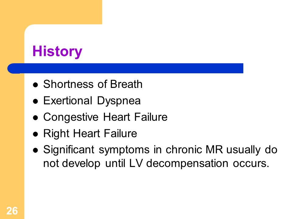 History Shortness of Breath Exertional Dyspnea