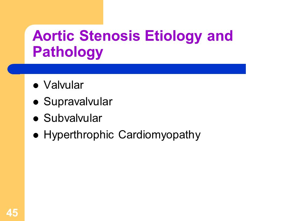 Aortic Stenosis Etiology and Pathology