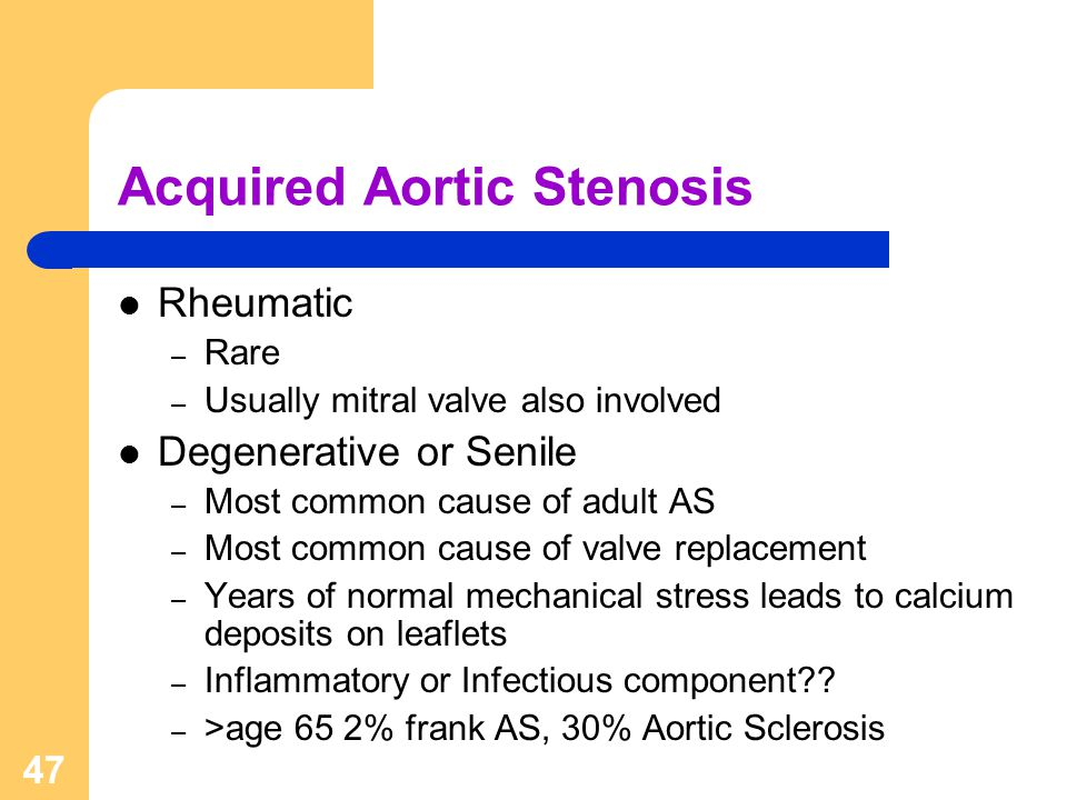 Acquired Aortic Stenosis