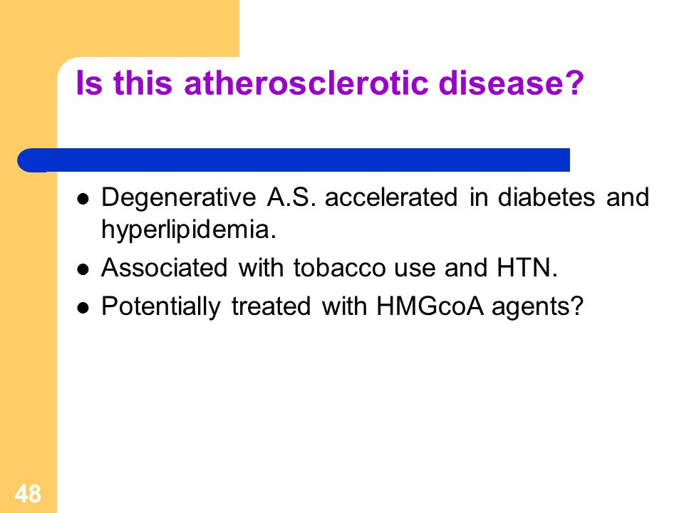 Is this atherosclerotic disease