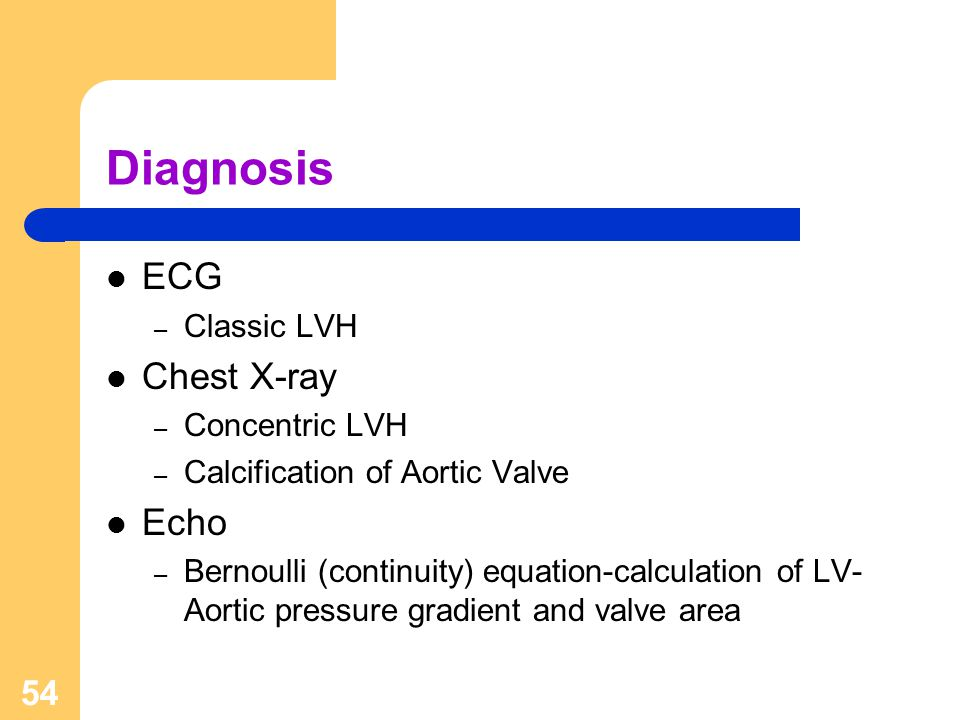 Diagnosis ECG Chest X-ray Echo Classic LVH Concentric LVH