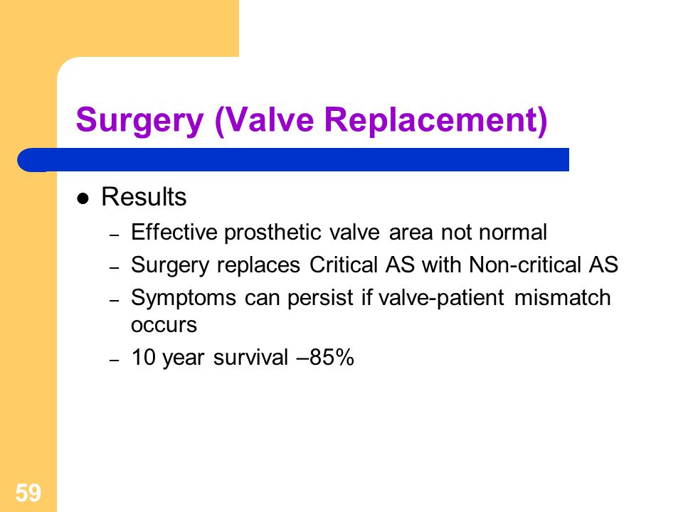 Surgery (Valve Replacement)