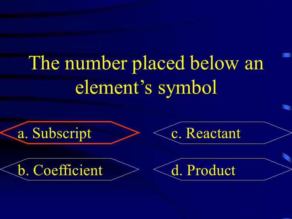 The number placed below an element's symbol