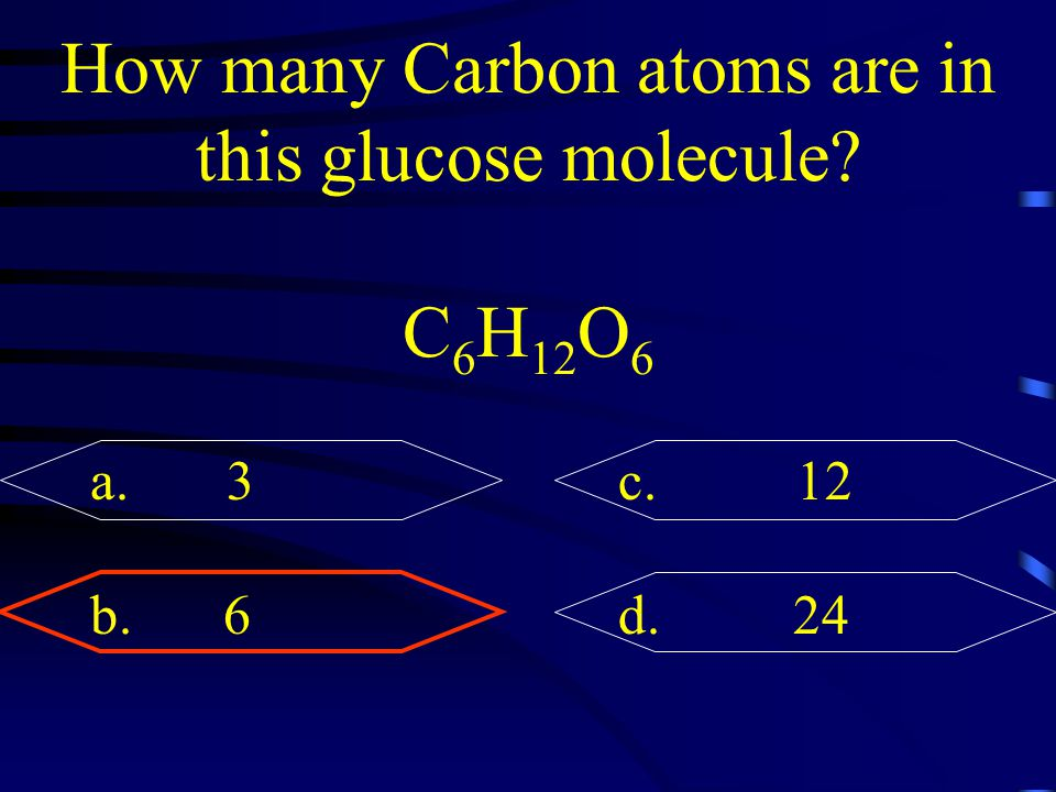 How many Carbon atoms are in this glucose molecule
