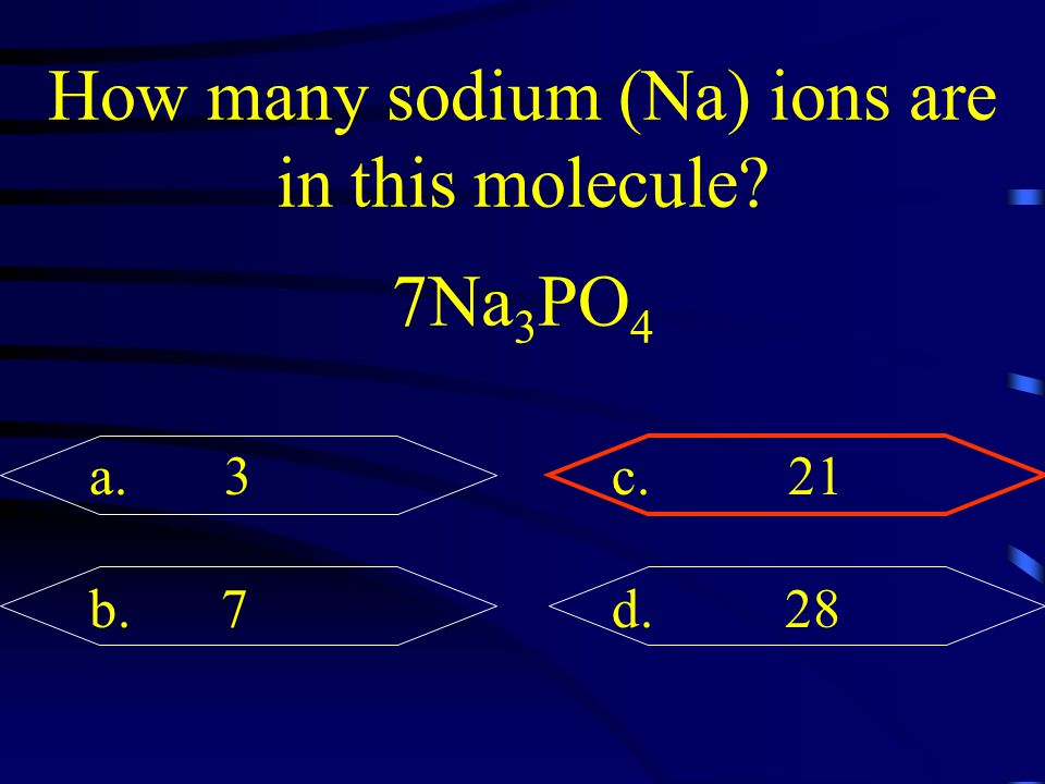 How many sodium (Na) ions are in this molecule