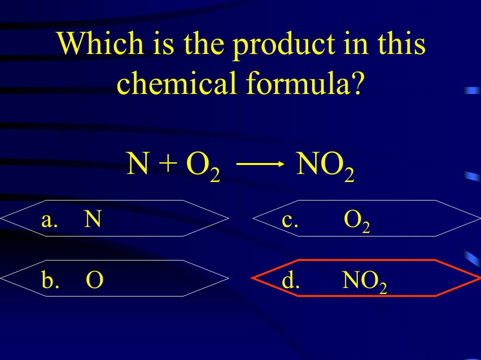 Which is the product in this chemical formula