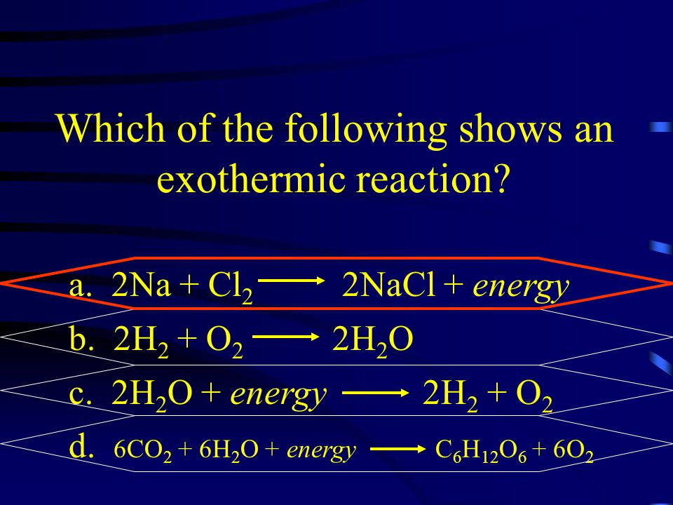 Which of the following shows an exothermic reaction
