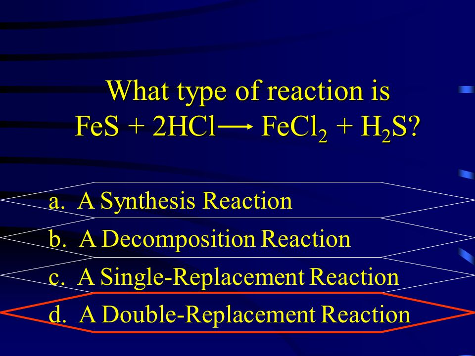 What type of reaction is