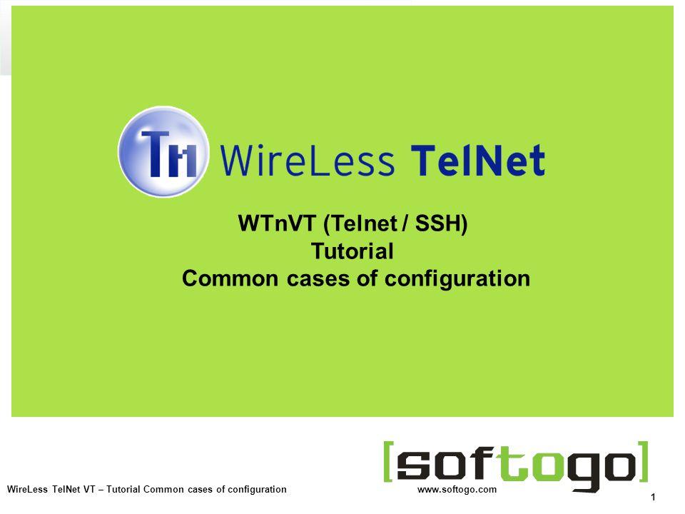 WTnVT (Telnet / SSH) Tutorial Common cases of configuration