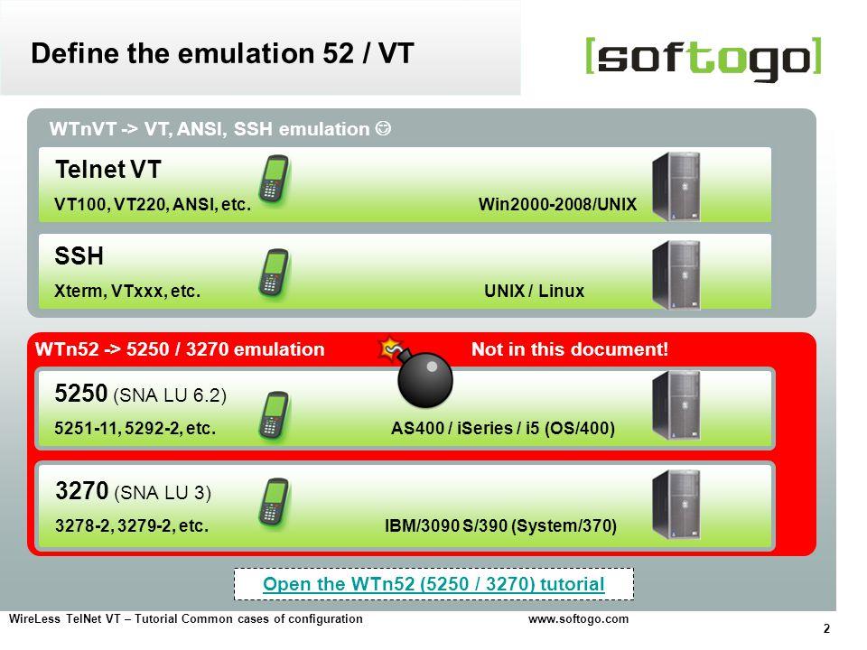 Define the emulation 52 / VT
