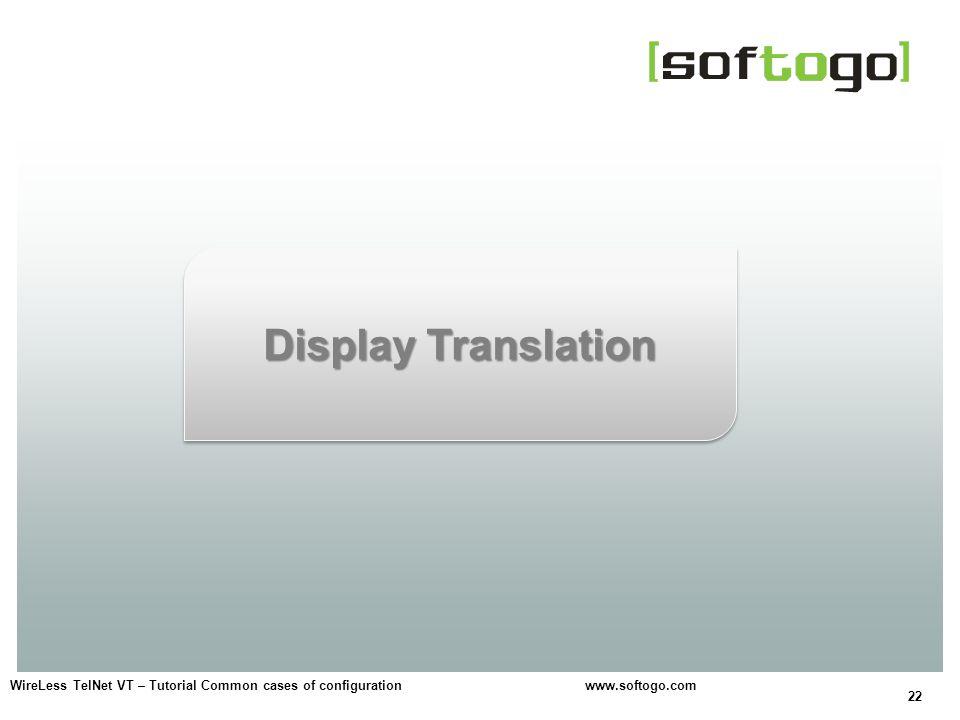 Display Translation