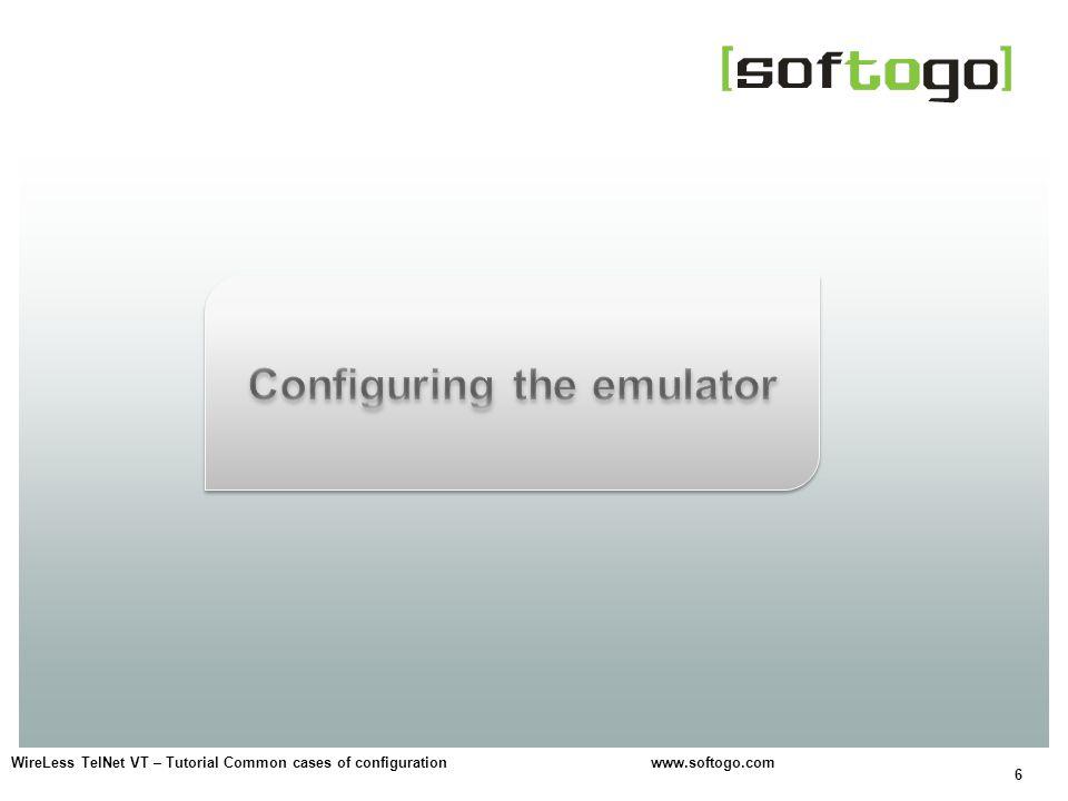 Configuring the emulator
