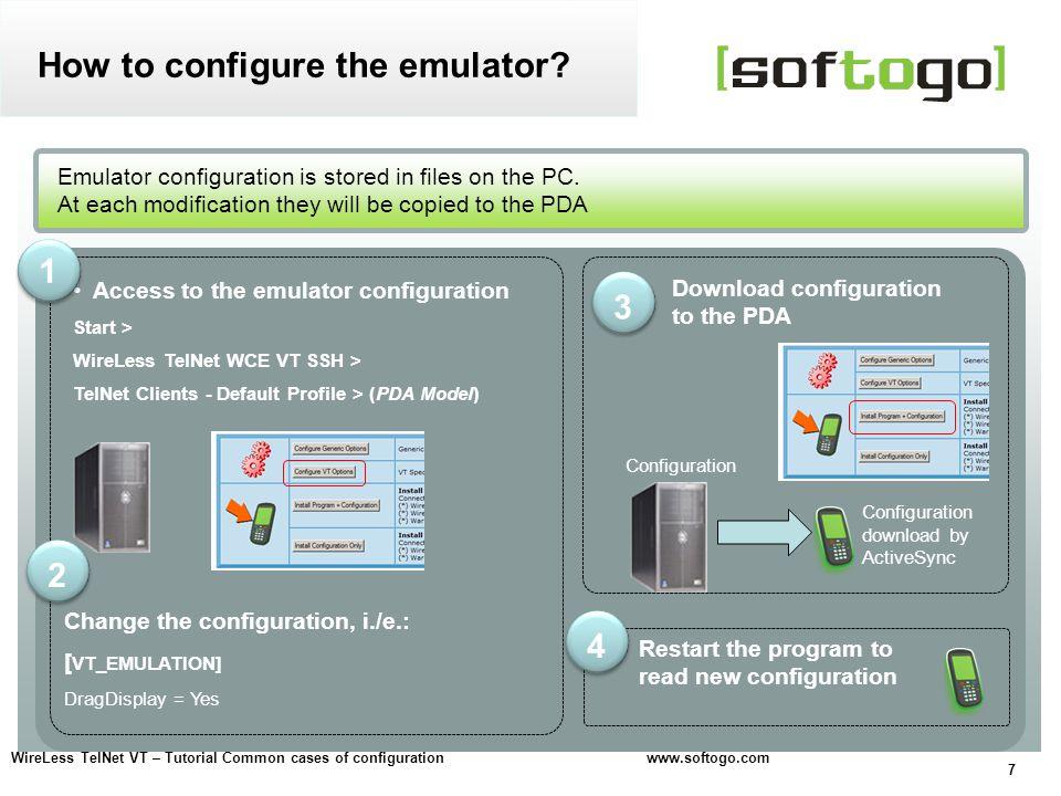 How to configure the emulator