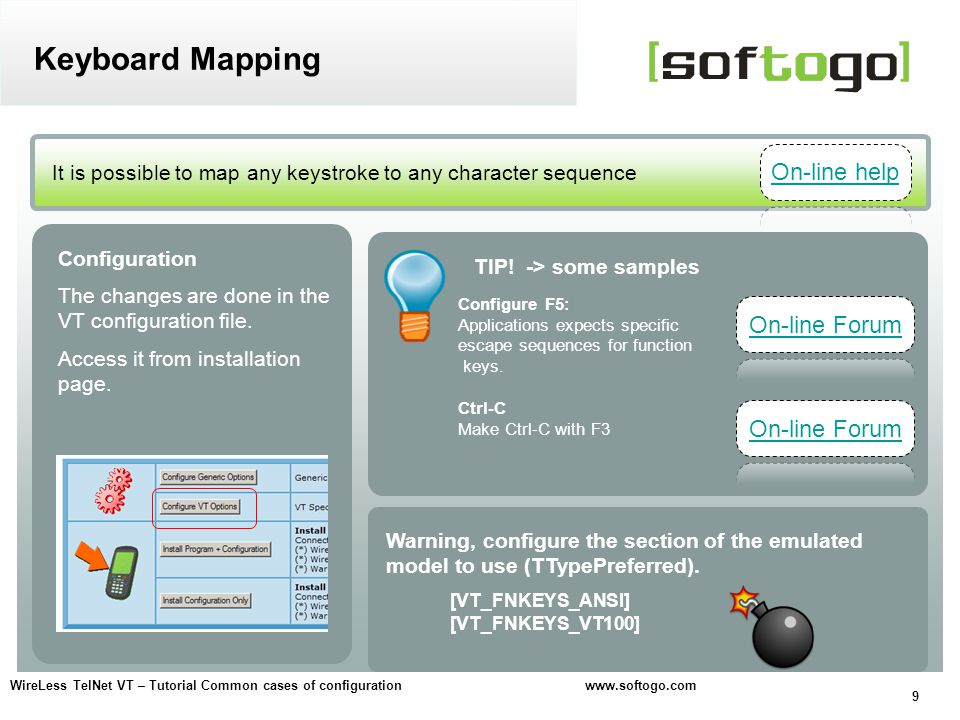 Keyboard Mapping On-line help On-line Forum On-line Forum