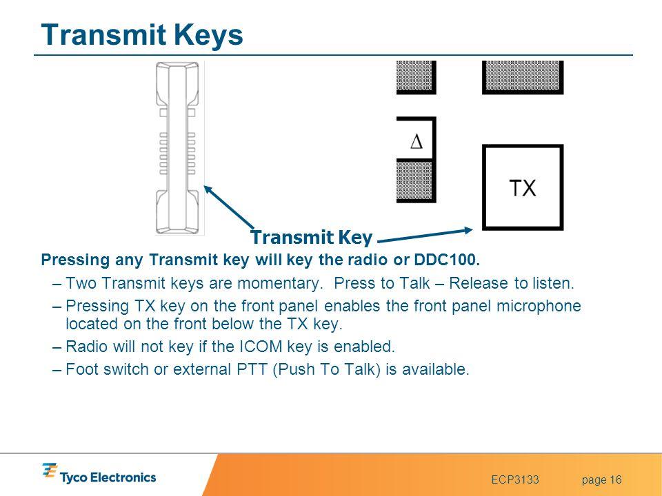 Transmit Keys Transmit Key