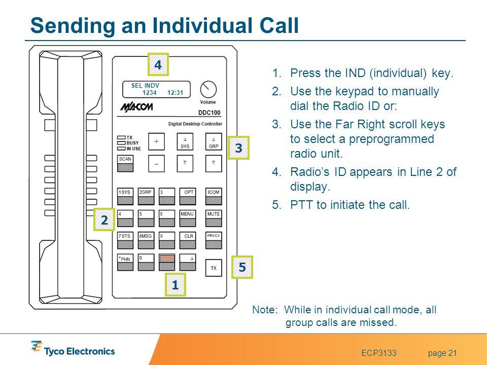 Sending an Individual Call