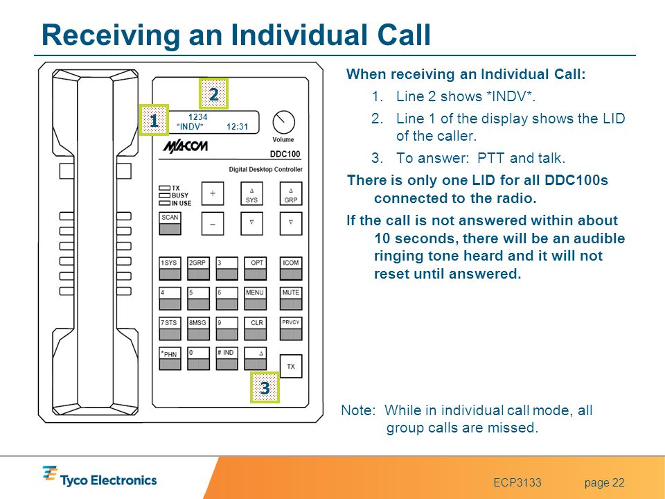 Receiving an Individual Call