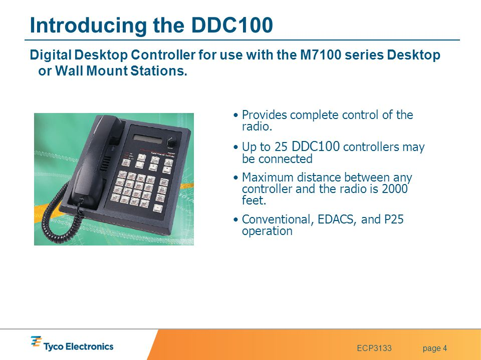 Introducing the DDC100 Digital Desktop Controller for use with the M7100 series Desktop or Wall Mount Stations.