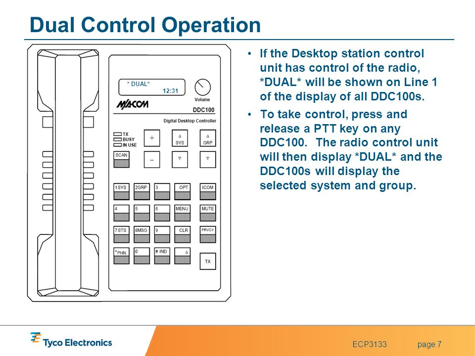 Dual Control Operation