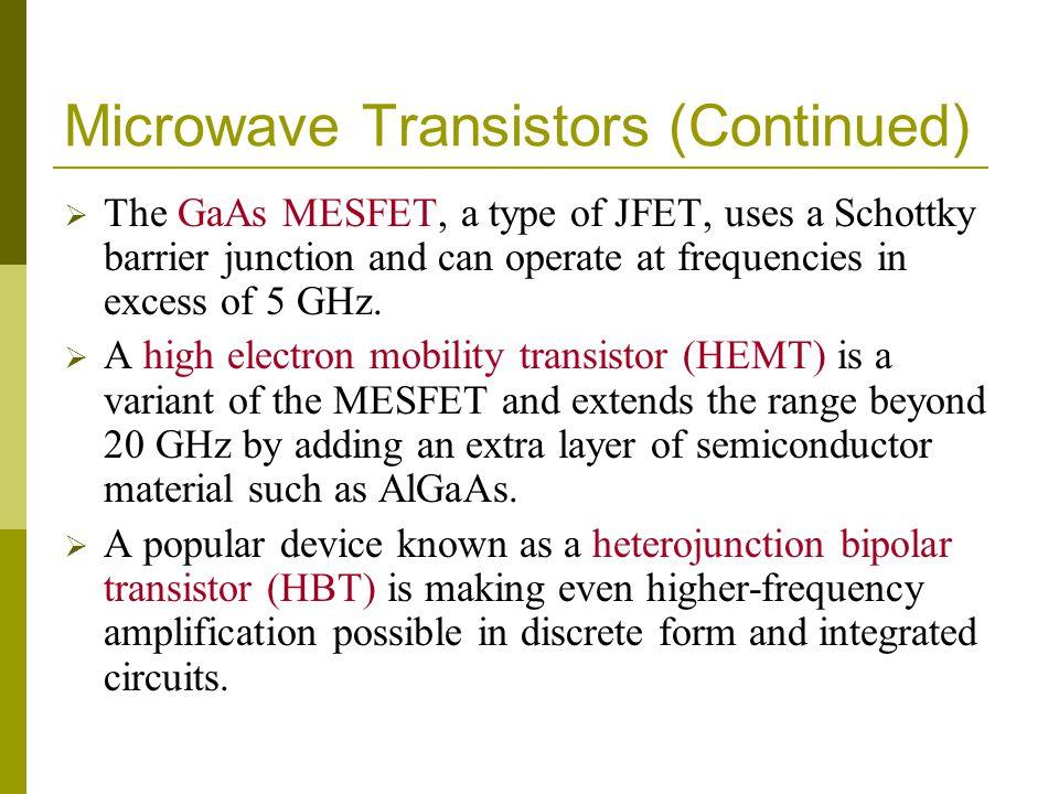 Microwave Transistors (Continued)