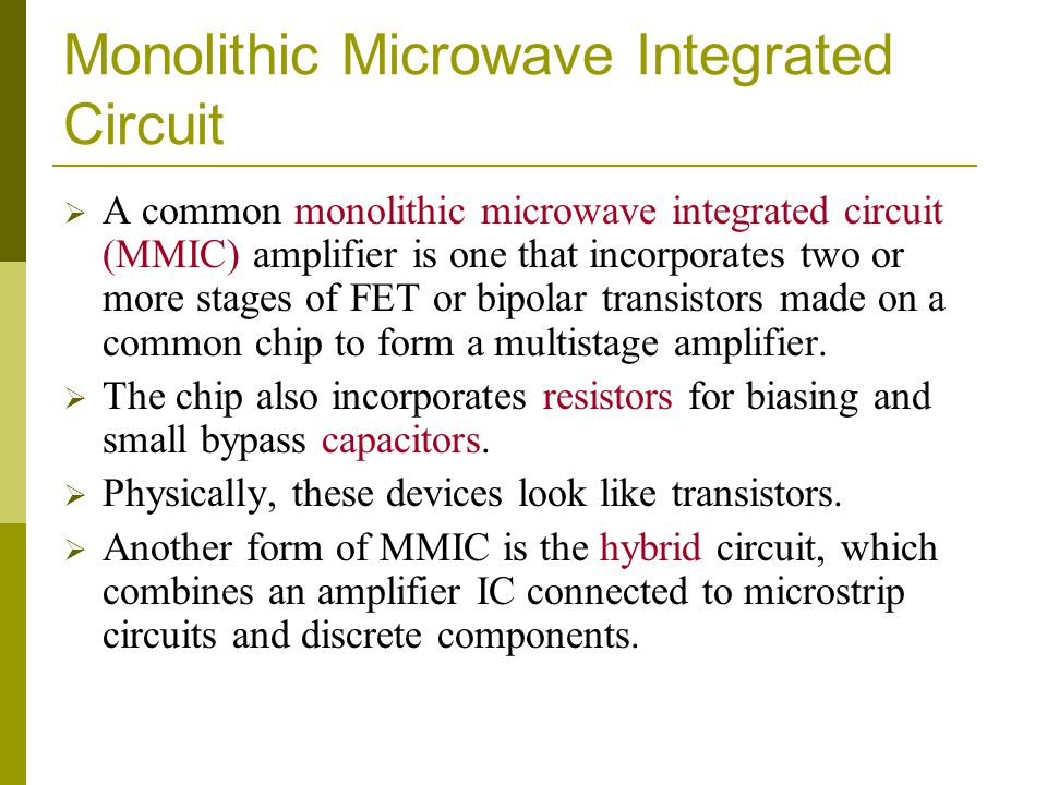 Monolithic Microwave Integrated Circuit
