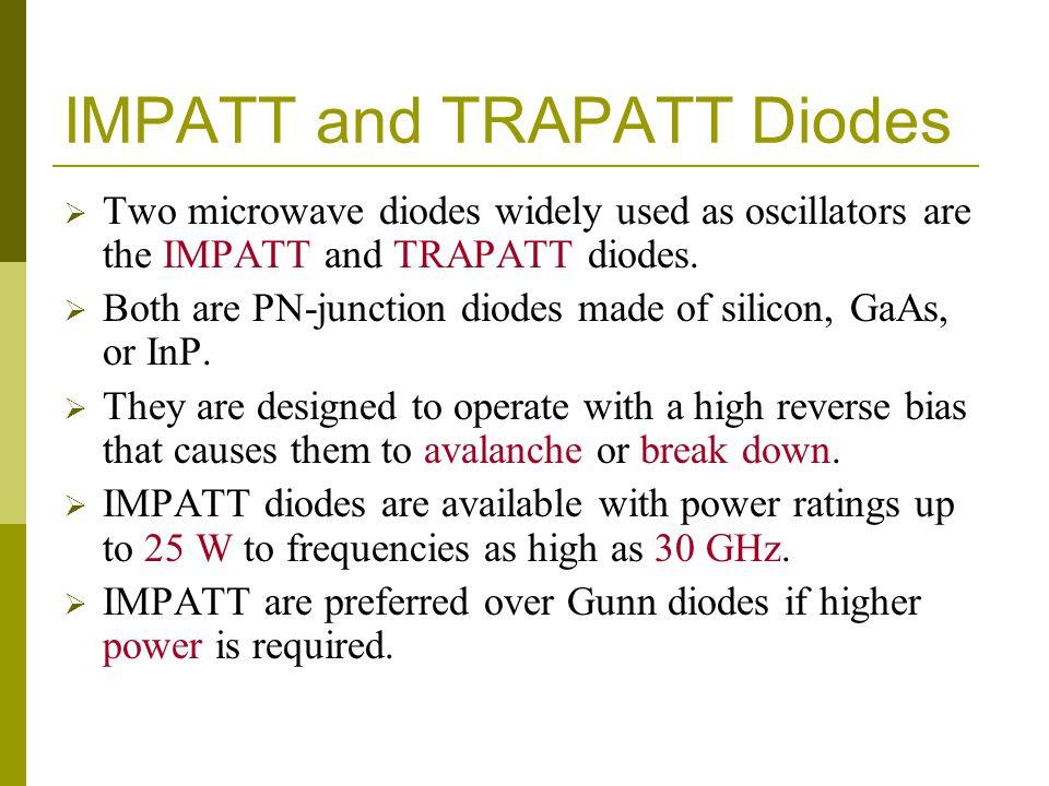 IMPATT and TRAPATT Diodes
