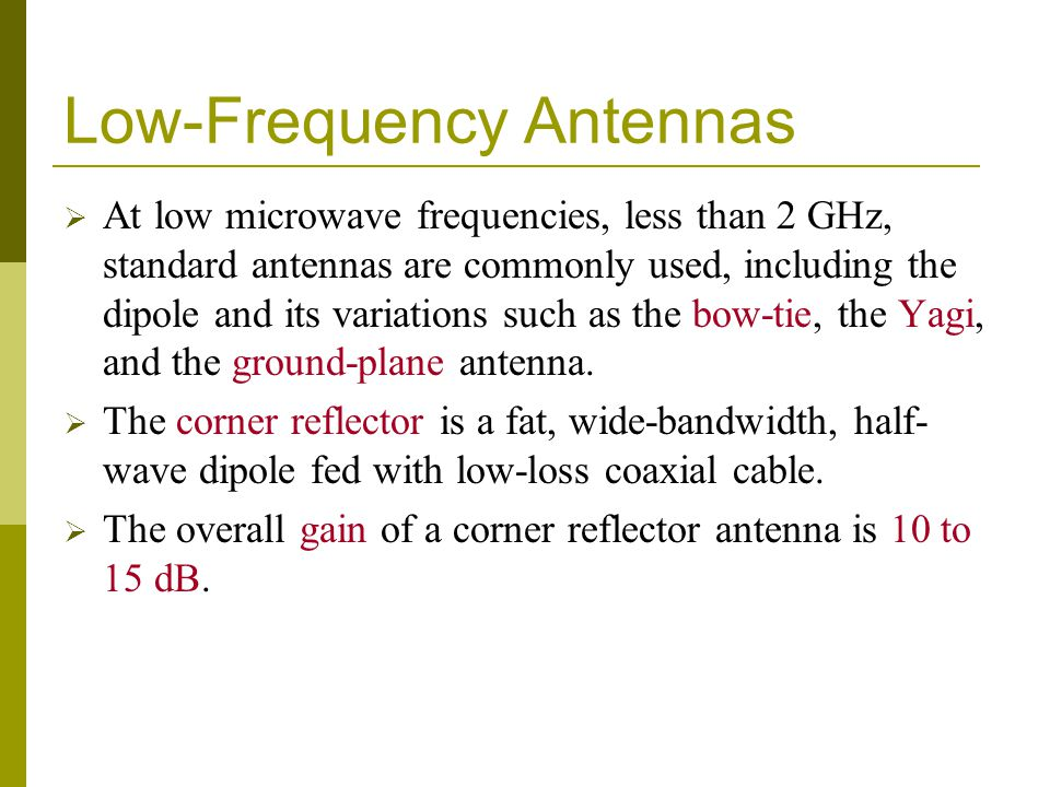 Low-Frequency Antennas