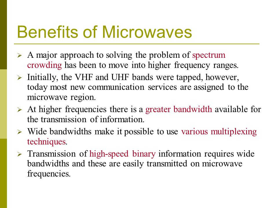 Benefits of Microwaves