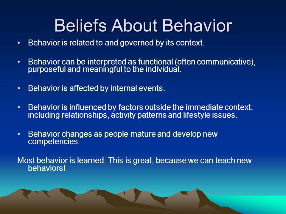 Beliefs About Behavior