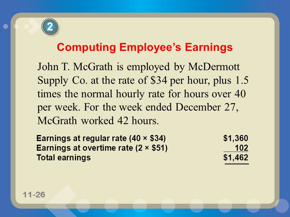 Computing Employee's Earnings