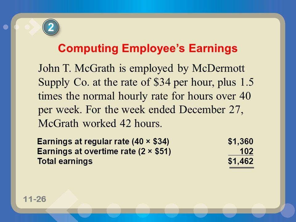 Computing Employee's Earnings