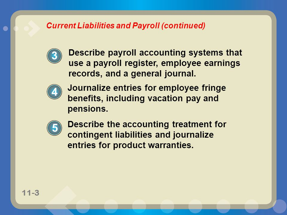 Current Liabilities and Payroll (continued)