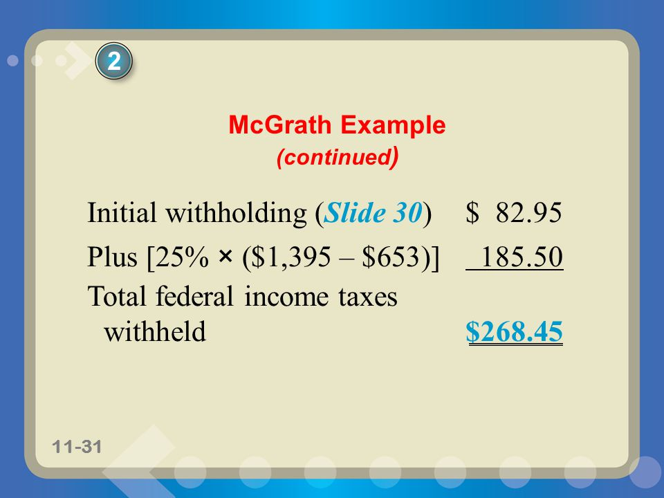 McGrath Example (continued)
