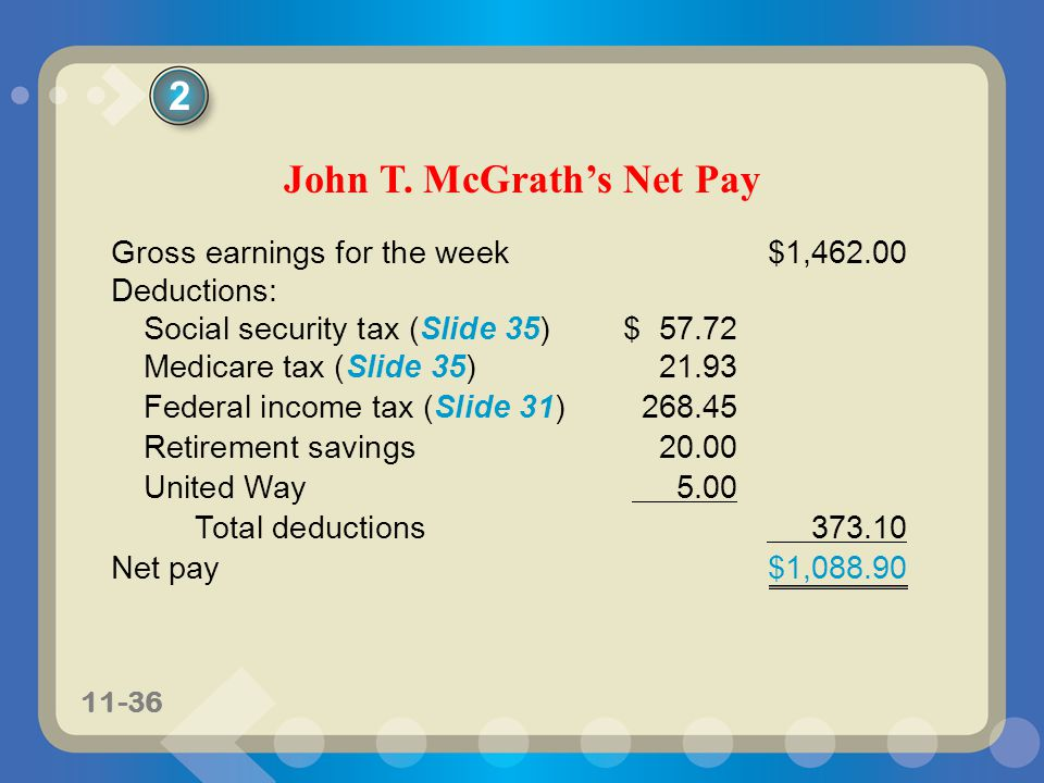 John T. McGrath's Net Pay
