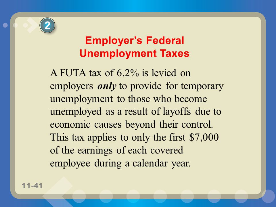 Employer's Federal Unemployment Taxes