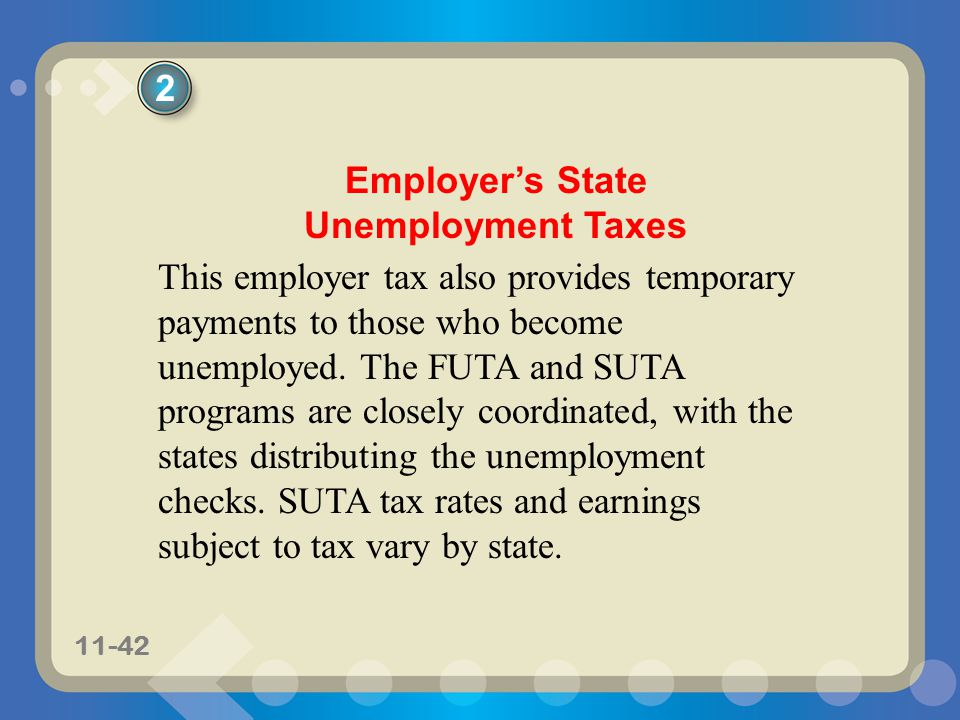 Employer's State Unemployment Taxes