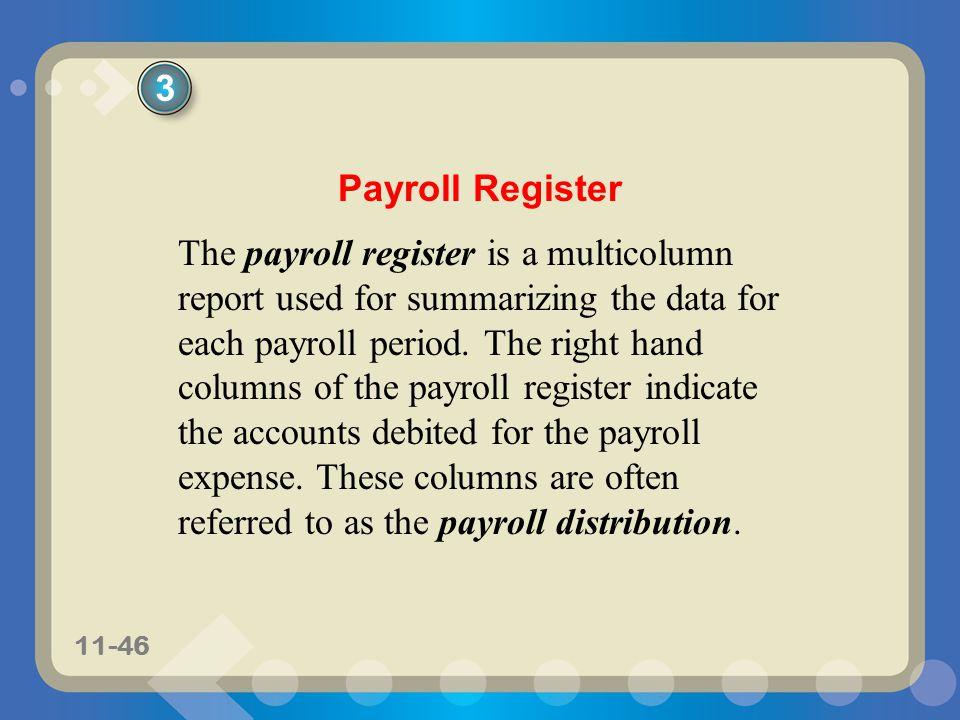3 Payroll Register.