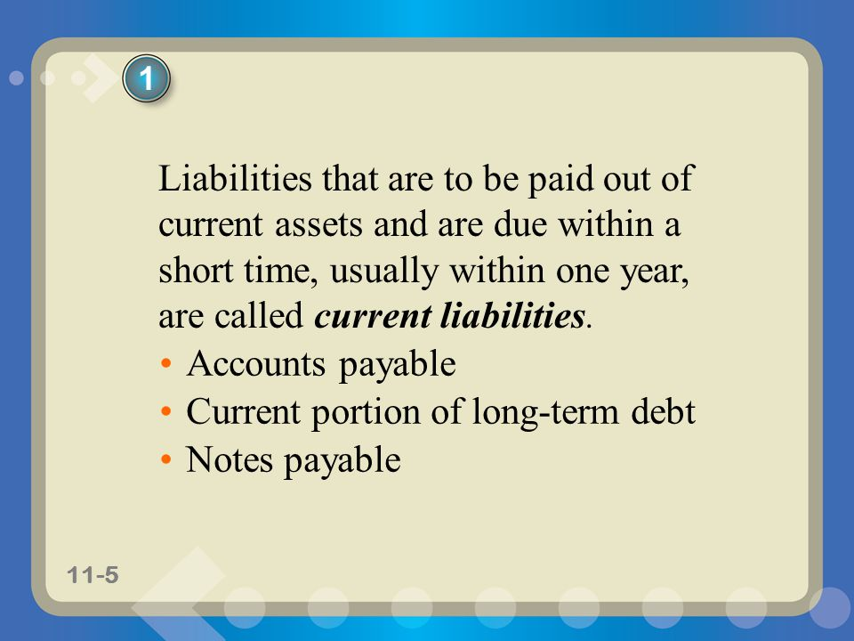 Current portion of long-term debt Notes payable
