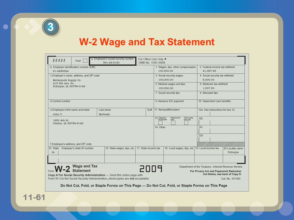 W-2 Wage and Tax Statement